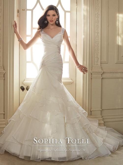 ... Sophia Tolli 2016 Wedding Dress Y11647 THEMA d62c846f60