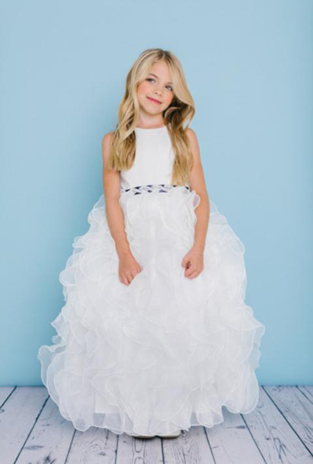 0c7930b5ad5 Rosebud Flower Girl 5120 · Style 5122 is a ball gown with a satin bodice  and organza ruffled skirt.